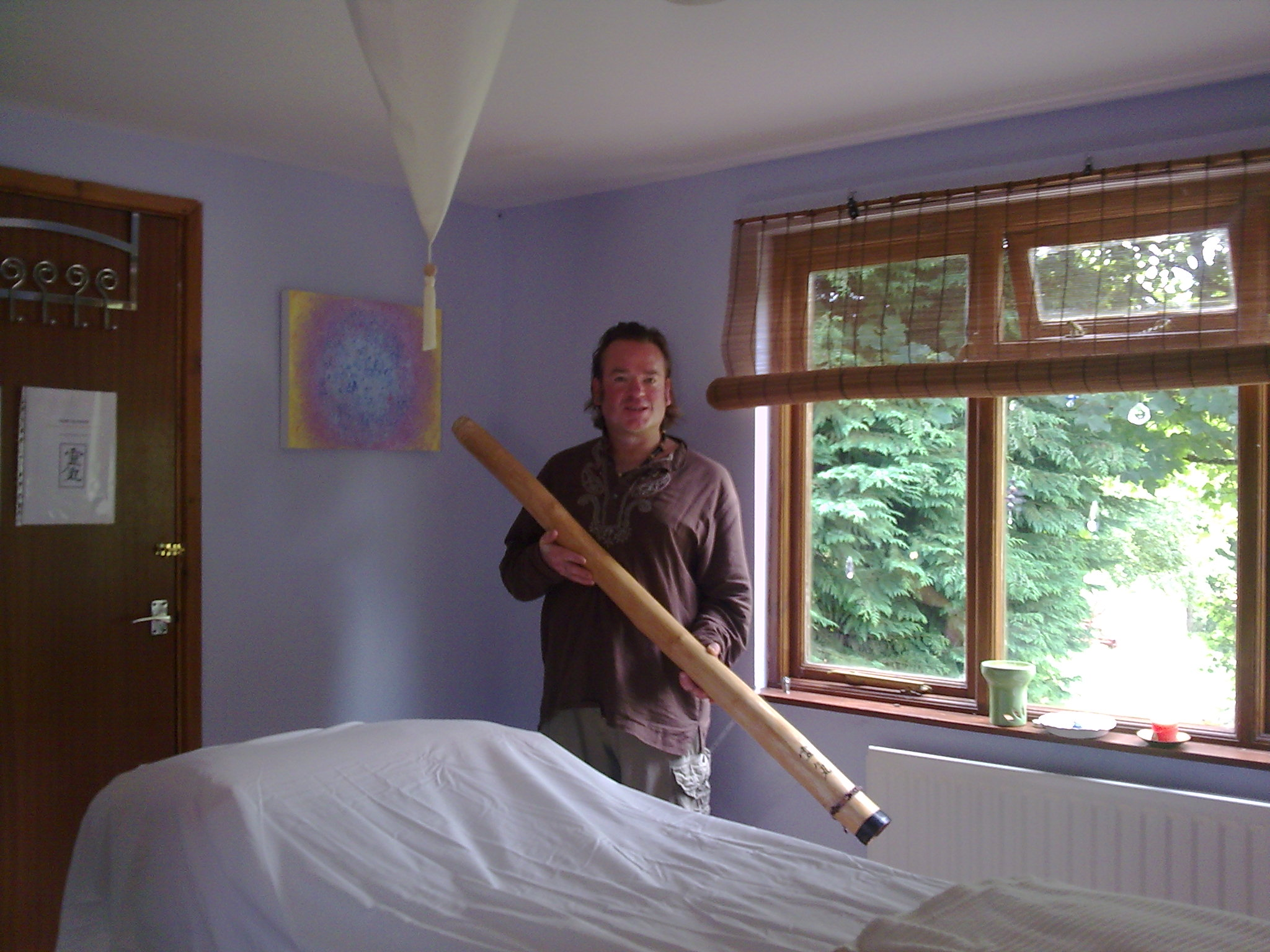 Chris with Didgeridoo