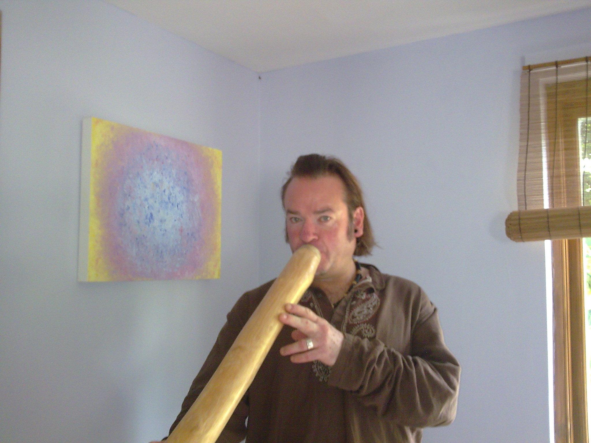 Chris with Didgeridoo